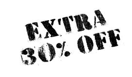 El 30 por ciento adicional del sello de goma Fotografía de archivo libre de regalías
