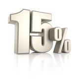 El 15 por ciento aislado en el fondo blanco 3d rinden Foto de archivo libre de regalías