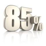 El 85 por ciento aislado en el fondo blanco 3d rinden Imagenes de archivo