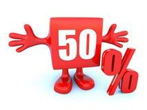 el 50 por ciento apagado Foto de archivo libre de regalías