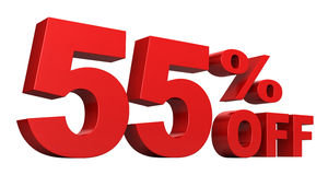 el 55 por ciento apagado Imágenes de archivo libres de regalías