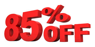 el 85 por ciento apagado Fotografía de archivo libre de regalías