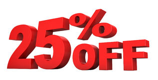 el 25 por ciento apagado Stock de ilustración
