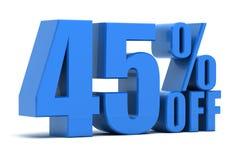 el 45 por ciento apagado Imagen de archivo libre de regalías
