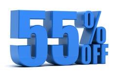 el 55 por ciento apagado Imagen de archivo libre de regalías