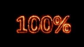 El 100 por ciento caliente en fuego en 4k libre illustration