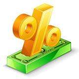 El por ciento cantan y el paquete del dólar Foto de archivo libre de regalías