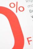 El por ciento cero de interés Imagen de archivo libre de regalías