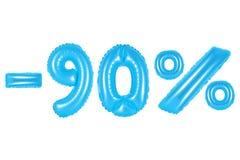 el 90 por ciento, color azul Fotografía de archivo libre de regalías