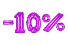 el 10 por ciento, color púrpura Imagen de archivo libre de regalías