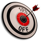 El 10 por ciento de la reducción de las demostraciones en precio Imágenes de archivo libres de regalías