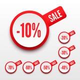 El por ciento de la venta. Foto de archivo