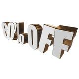 el 80 por ciento de las letras 3d en el fondo blanco Imagen de archivo