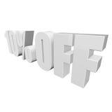 el 10 por ciento de las letras 3d en el fondo blanco Foto de archivo