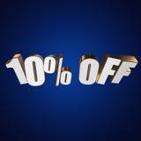 el 10 por ciento de las letras 3d en fondo azul Foto de archivo libre de regalías