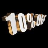 el 10 por ciento de las letras 3d en fondo negro Imagenes de archivo