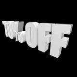 el 70 por ciento de las letras 3d en fondo negro Imagenes de archivo