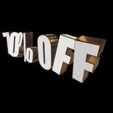 el 70 por ciento de las letras 3d en fondo negro Imagen de archivo libre de regalías