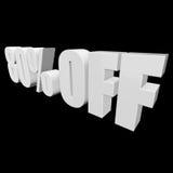 el 80 por ciento de las letras 3d en fondo negro Imágenes de archivo libres de regalías