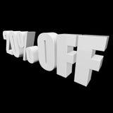 el 20 por ciento de las letras 3d en fondo negro Imágenes de archivo libres de regalías