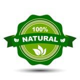 el 100 por ciento de natural - vector Fotos de archivo