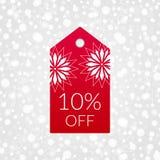 el 10 por ciento del icono del vector de la etiqueta de las compras Descuente el símbolo para la mercancía, almacénelo, haga comp libre illustration