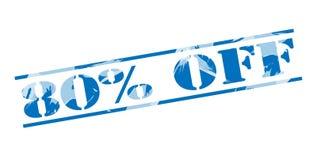 el 80 por ciento del sello azul Fotografía de archivo libre de regalías