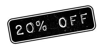 el 20 por ciento del sello de goma Fotos de archivo
