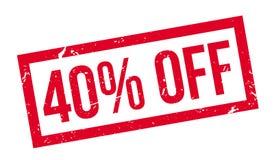 el 40 por ciento del sello de goma Imagen de archivo libre de regalías