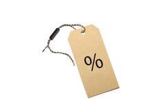 El por ciento en blanco del precio Imagenes de archivo