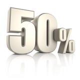 el 50 por ciento en el fondo blanco 3d rinden Imagen de archivo