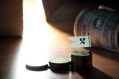 El por ciento para arriba Imagen de archivo libre de regalías