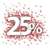 El 25 por ciento rojo Foto de archivo