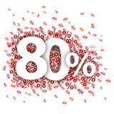 El 80 por ciento rojo Fotografía de archivo libre de regalías