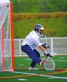 El portero del lacrosse salva Imagenes de archivo