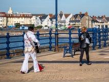 El Porthcawl Elvis Festival foto de archivo libre de regalías