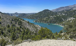 El Portillo Reservoir. Castril, Granada province, Andalusia, Spain royalty free stock images