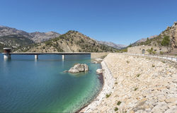 El Portillo Reservoir Dam Wall. El Portillo Reservoir, Castril, Granada province, Andalusia, Spain stock photos