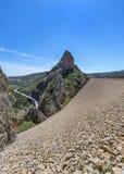 El Portillo Reservoir Dam Wall. El Portillo Reservoir, Castril, Granada province, Andalusia, Spain stock image