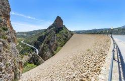 El Portillo Reservoir Dam Wall. El Portillo Reservoir, Castril, Granada province, Andalusia, Spain stock photo