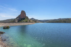 El Portillo Reservoir Dam Wall. El Portillo Reservoir, Castril, Granada province, Andalusia, Spain royalty free stock photo
