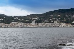 EL Porto de la Selva; Península ibérica; Catalan; Catalonia; Alt EmpordÃ; Tampão de Creus fotos de stock royalty free