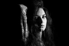 El portret místico hermoso de mujeres Fotos de archivo