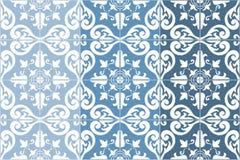 El portugués adornado tradicional teja azulejos Ilustración del vector 4 variaciones del color en azul libre illustration