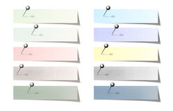 El post-it en colores pastel colorido Fotografía de archivo libre de regalías