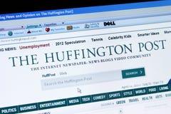 El poste de Huffington imagen de archivo libre de regalías