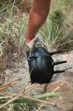 El pote del arrabio Foto de archivo libre de regalías