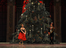 El príncipe y la princesa de España el segundo reino del caramelo del campo del acto segundo - el cascanueces del ballet Fotos de archivo libres de regalías