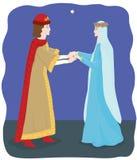 El príncipe y su amante ilustración del vector
