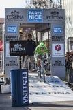 El prólogo 2013 de Ratto Daniela París del ciclista Niza en Houilles Imagenes de archivo